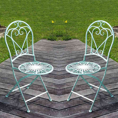 Wrought iron chair - Price for the pair