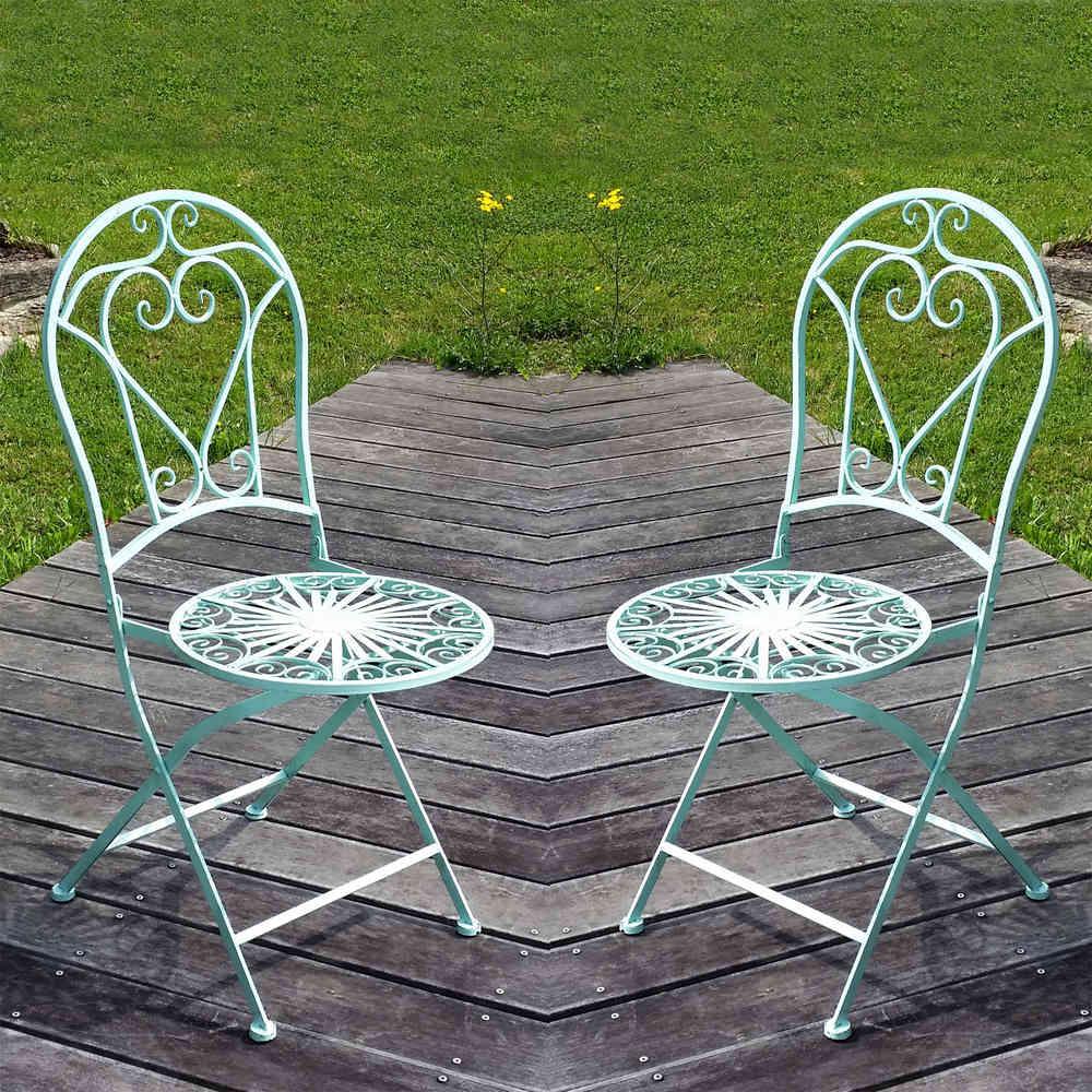 Sedia di ferro battuto - Prezzo per la coppia - Mobili da giardino ...