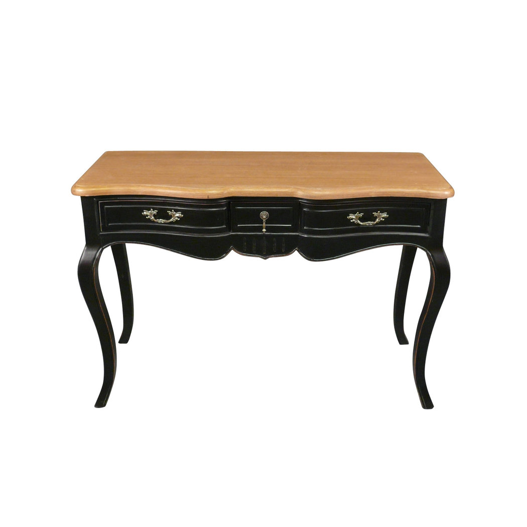 bureau noir proven al de style louis xv meuble shabby. Black Bedroom Furniture Sets. Home Design Ideas