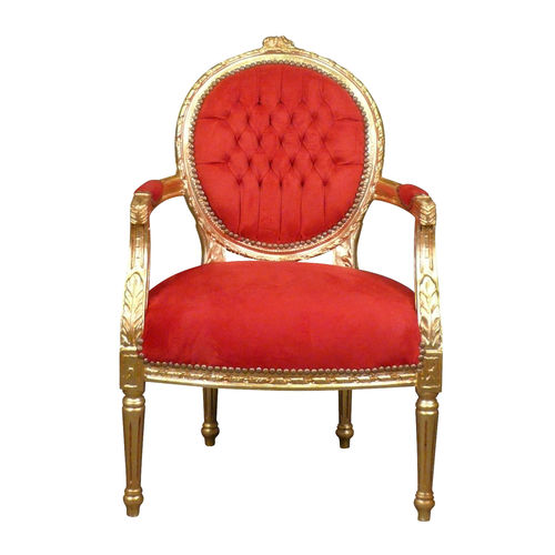 Louis XVI armchair red