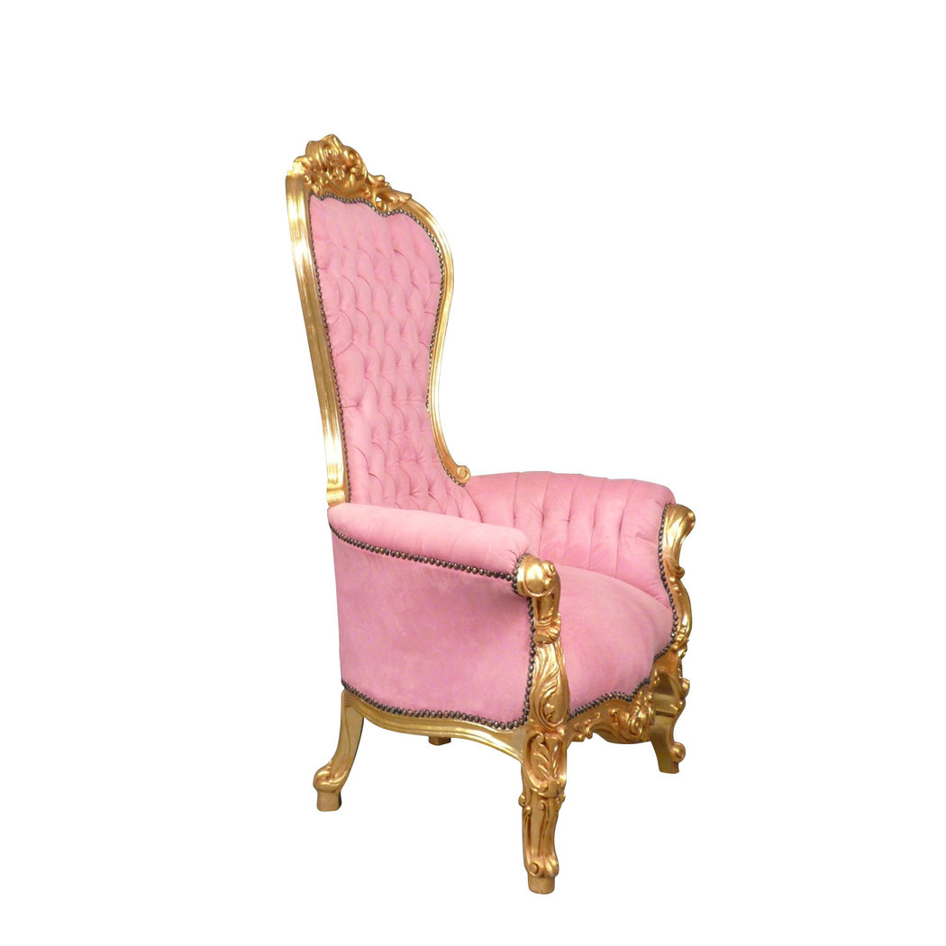 Fauteuil Baroque Trne Rose