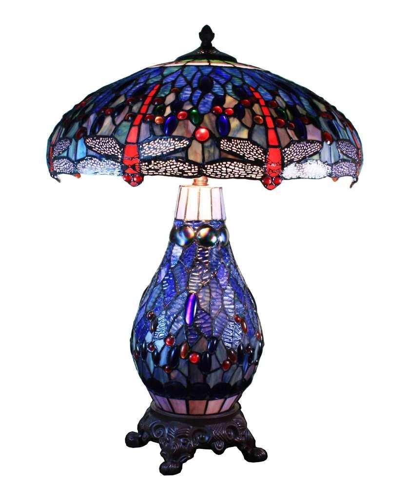 Bleue Tiffany Dragonfly Dragonfly Lampe Bleue Tiffany Lampe wXTOZPkiu