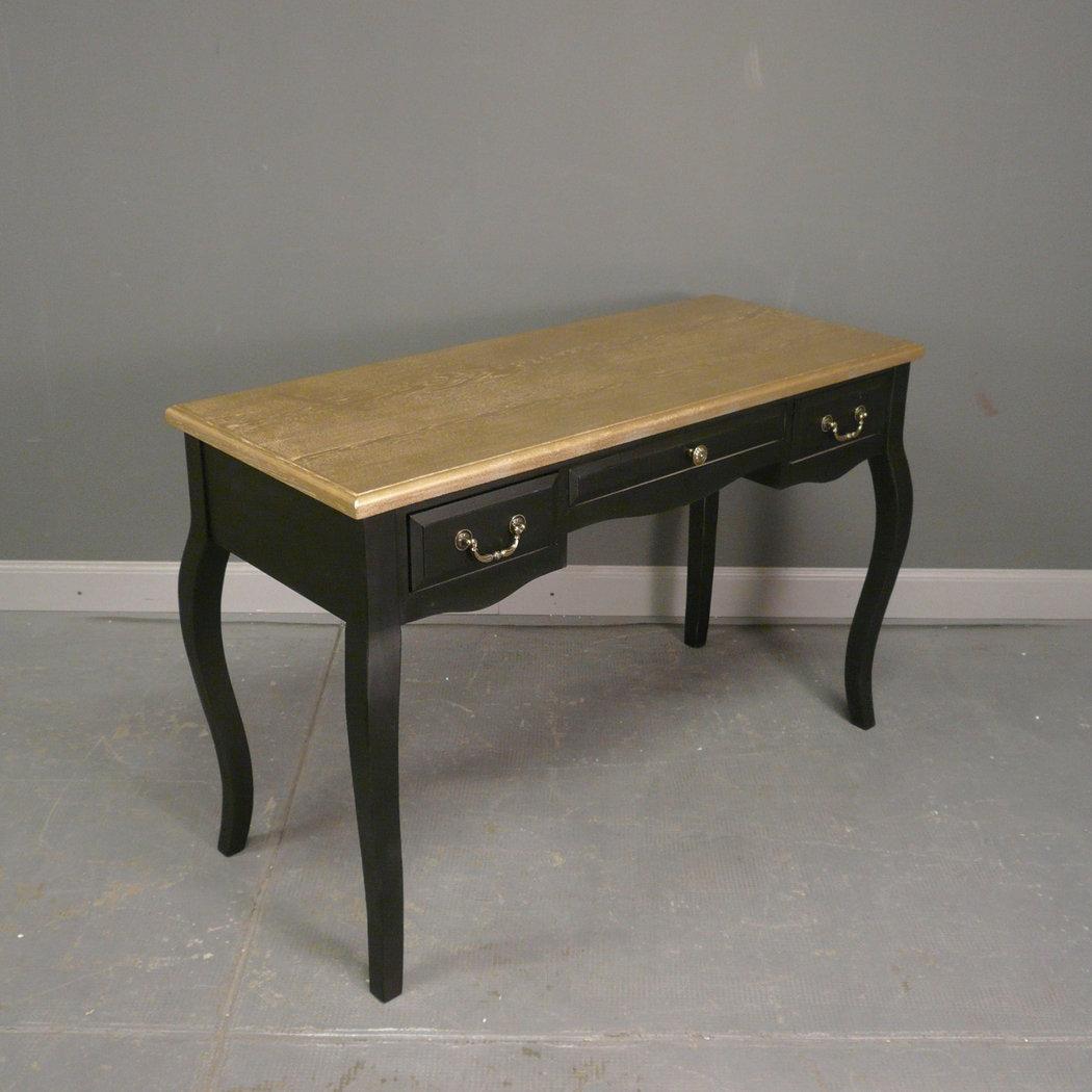 Bureau baroque noir et or meuble baroque - Chaise de bureau baroque ...