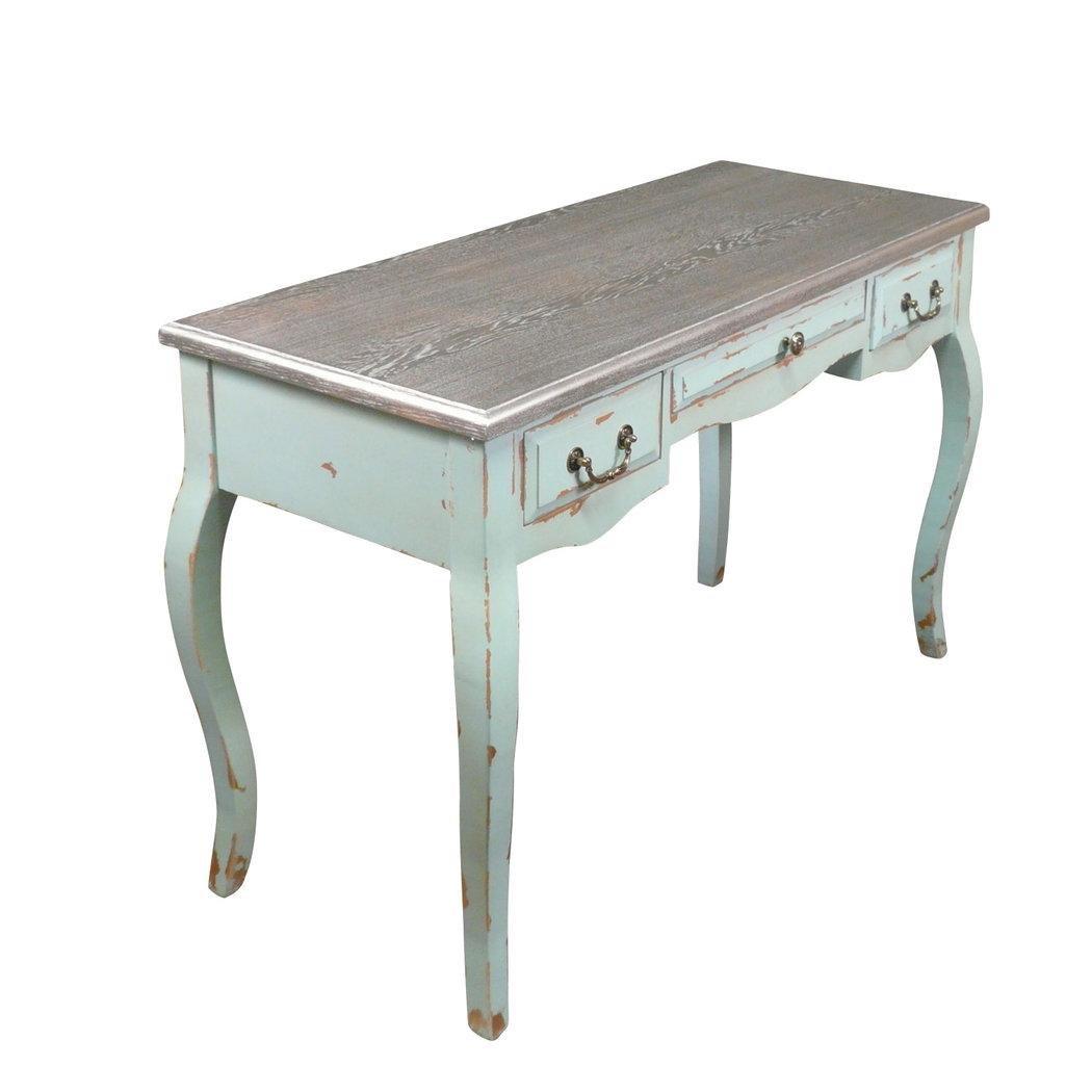 Bureau baroque argent meuble baroque for Table a repasser largeur 52