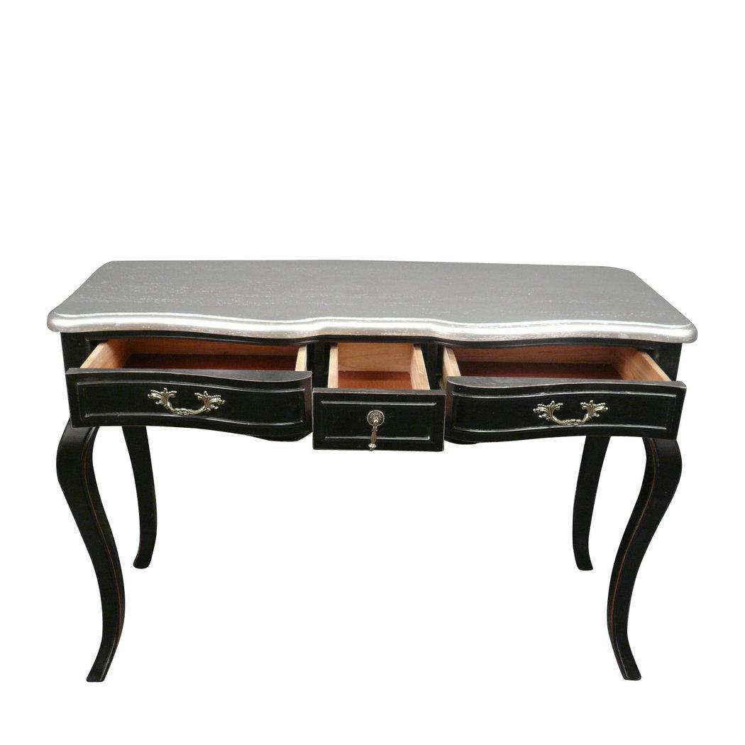 bureau baroque noir et argent meuble baroque. Black Bedroom Furniture Sets. Home Design Ideas