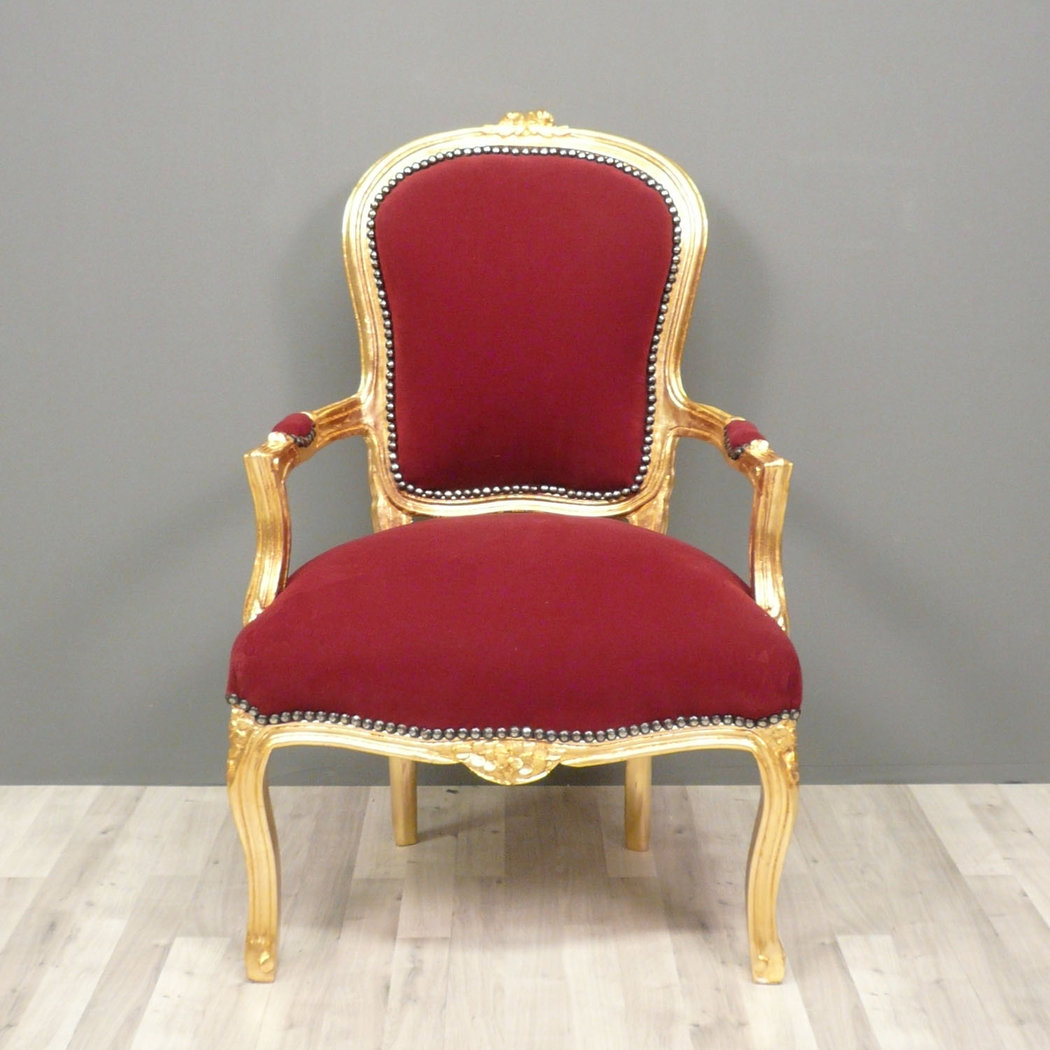 fauteuil baroque louis xv rouge chaise baroque. Black Bedroom Furniture Sets. Home Design Ideas