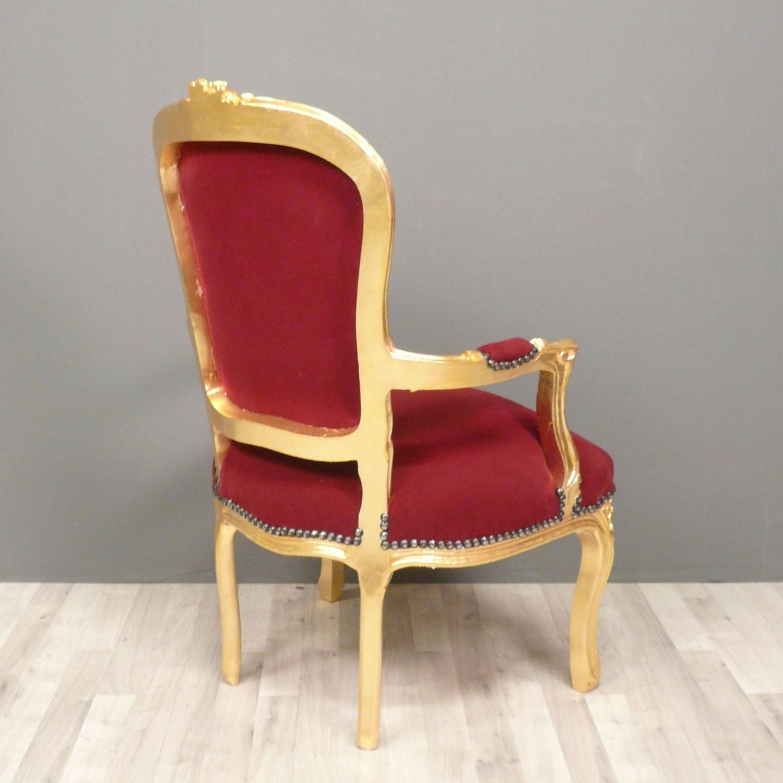 fauteuil baroque louis xv rouge chaise baroque. Black Bedroom Furniture Sets. Home Design Ideas