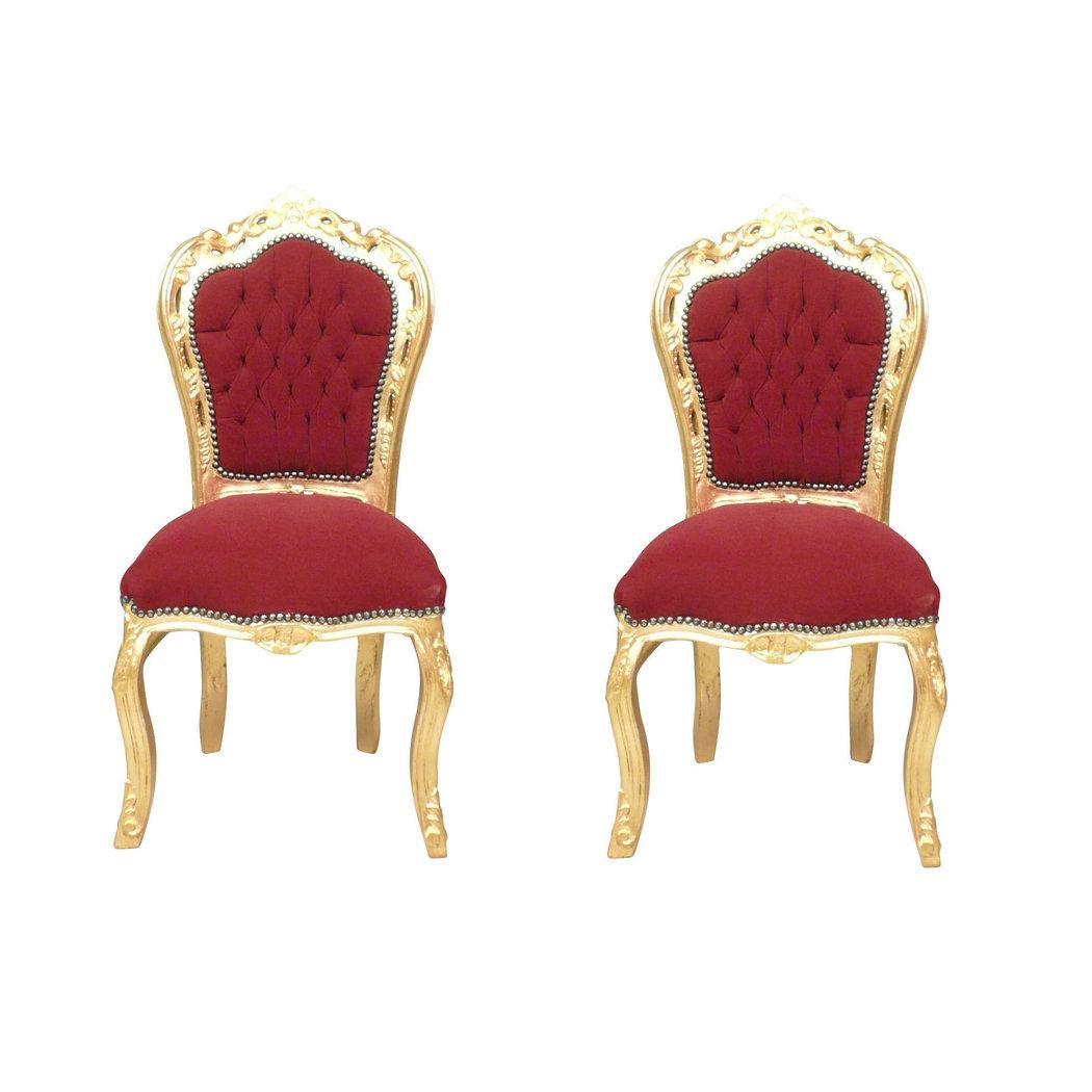 Chaise baroque bordeaux fauteuil et mobilier art d co for Chaise 1er prix