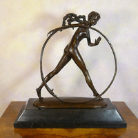 Bronze statues art deco