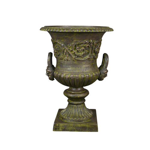 Cast iron urn with handles