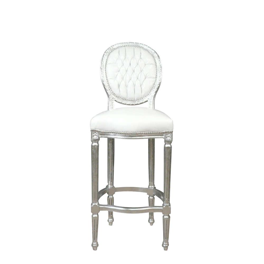 Chaise Baroque De Bar Blanche