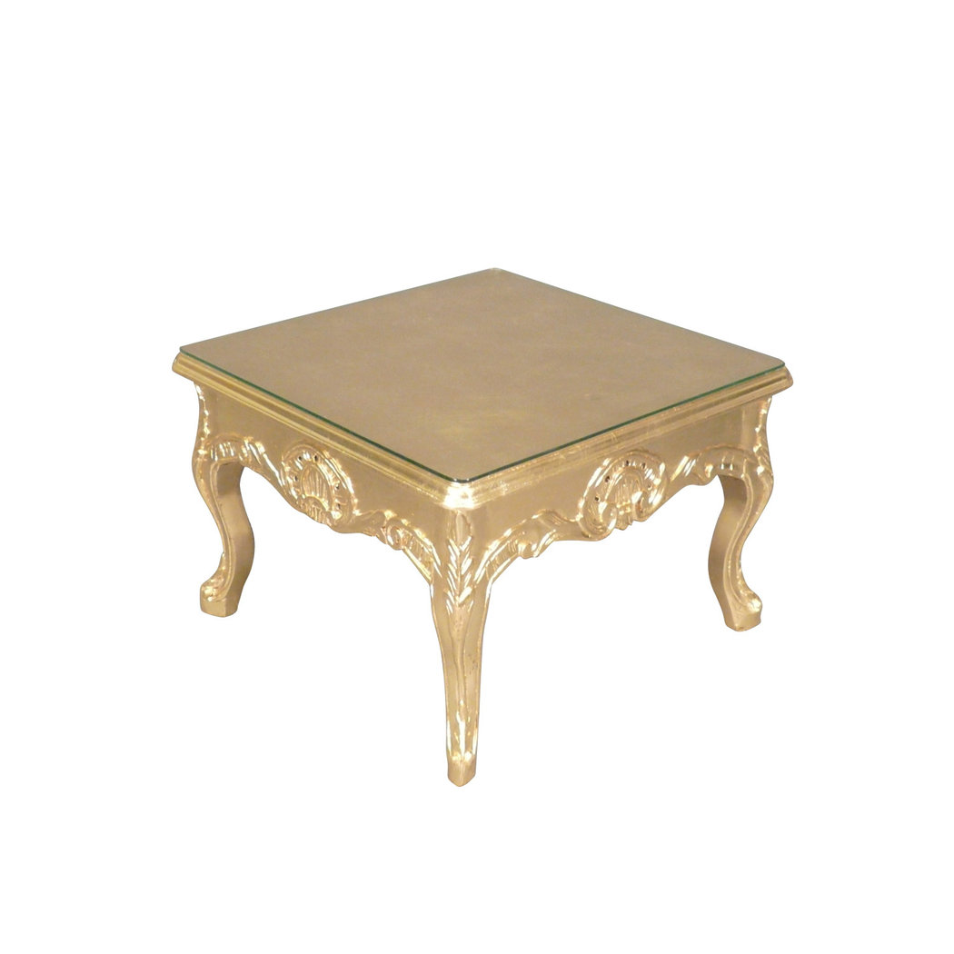 Table basse baroque dor e meuble baroque for Table basse baroque