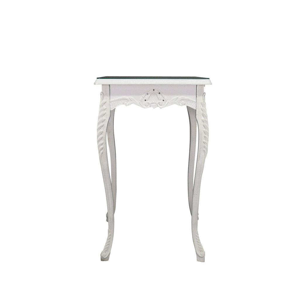 Table baroque de bar blanche meuble baroque - Table blanche baroque ...