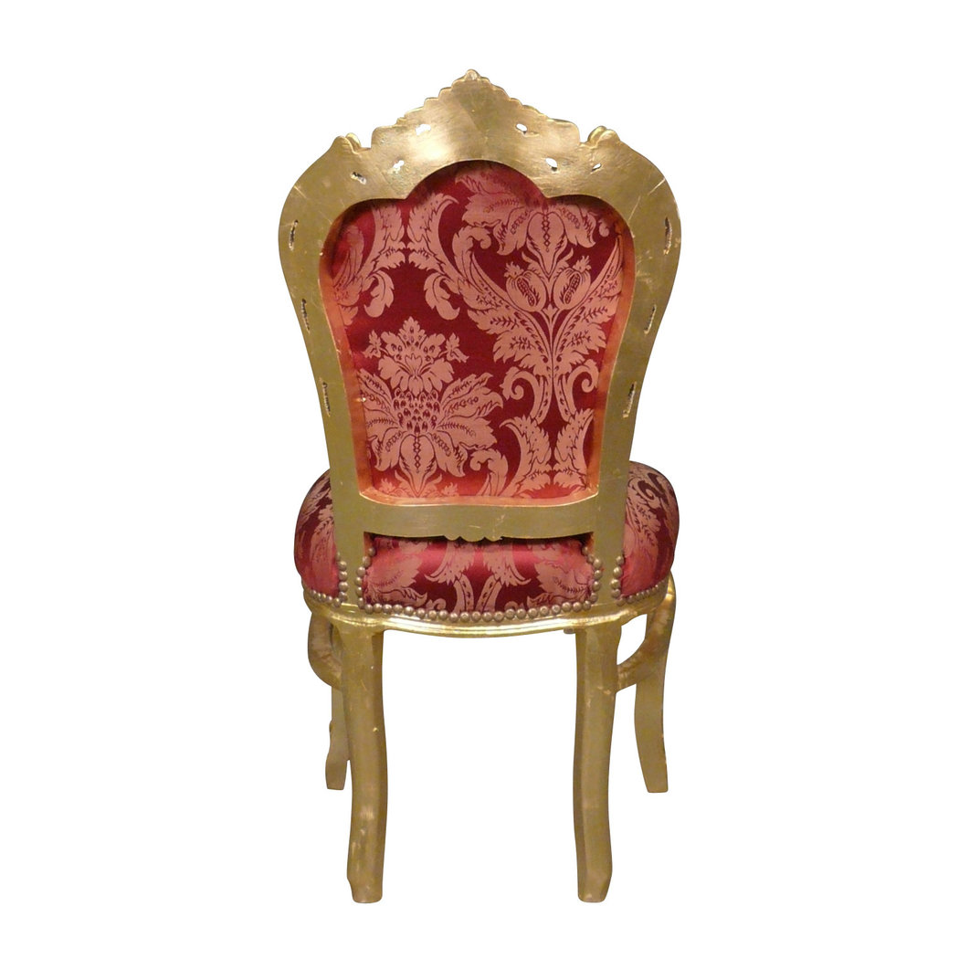 Chaise baroque rouge style rococo for Table et chaise baroque