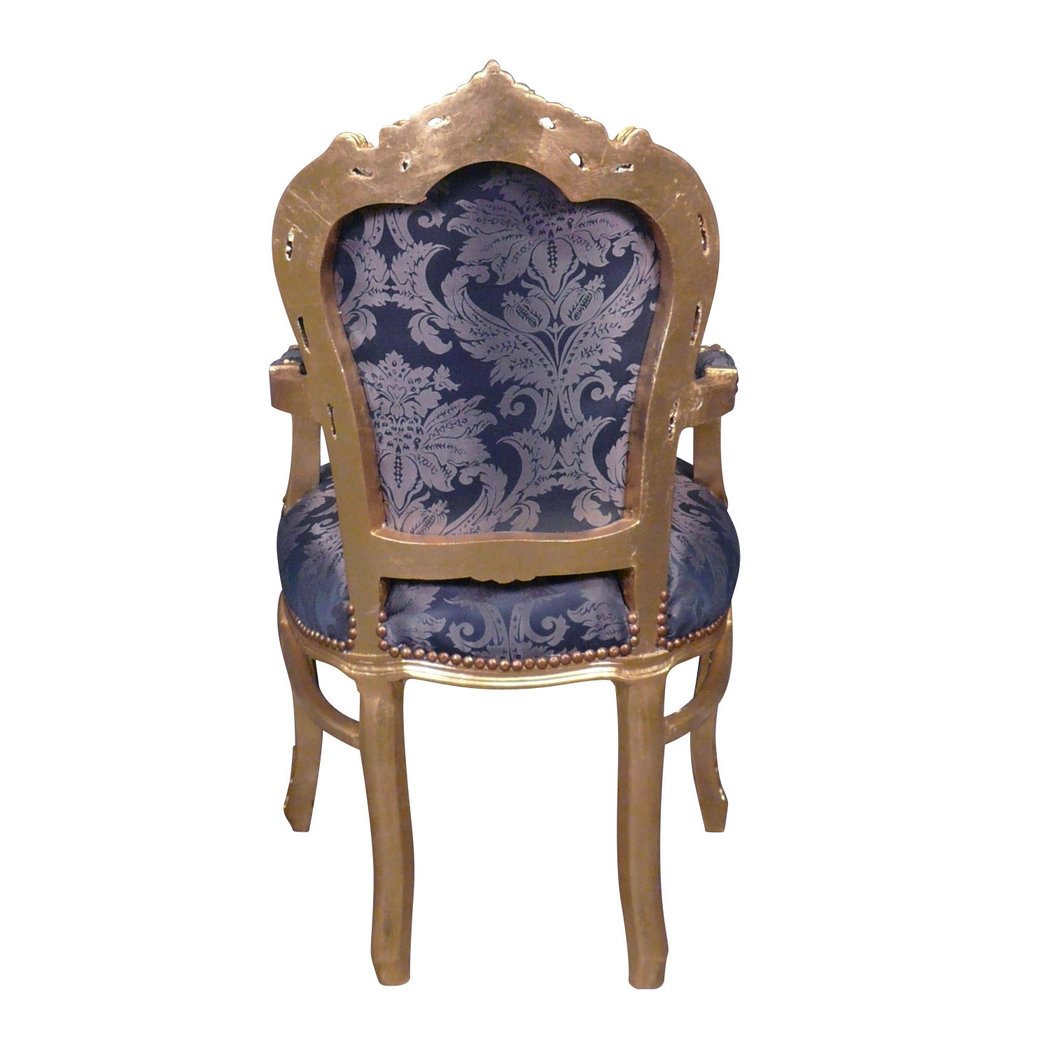 fauteuil baroque bleu style rococo. Black Bedroom Furniture Sets. Home Design Ideas