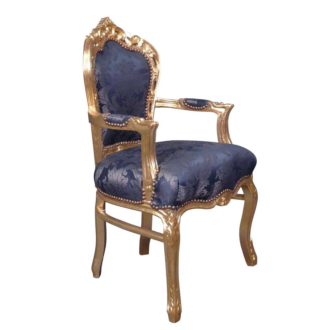 Poltrona barocco blu mobili barocchi for Poltrone barocche