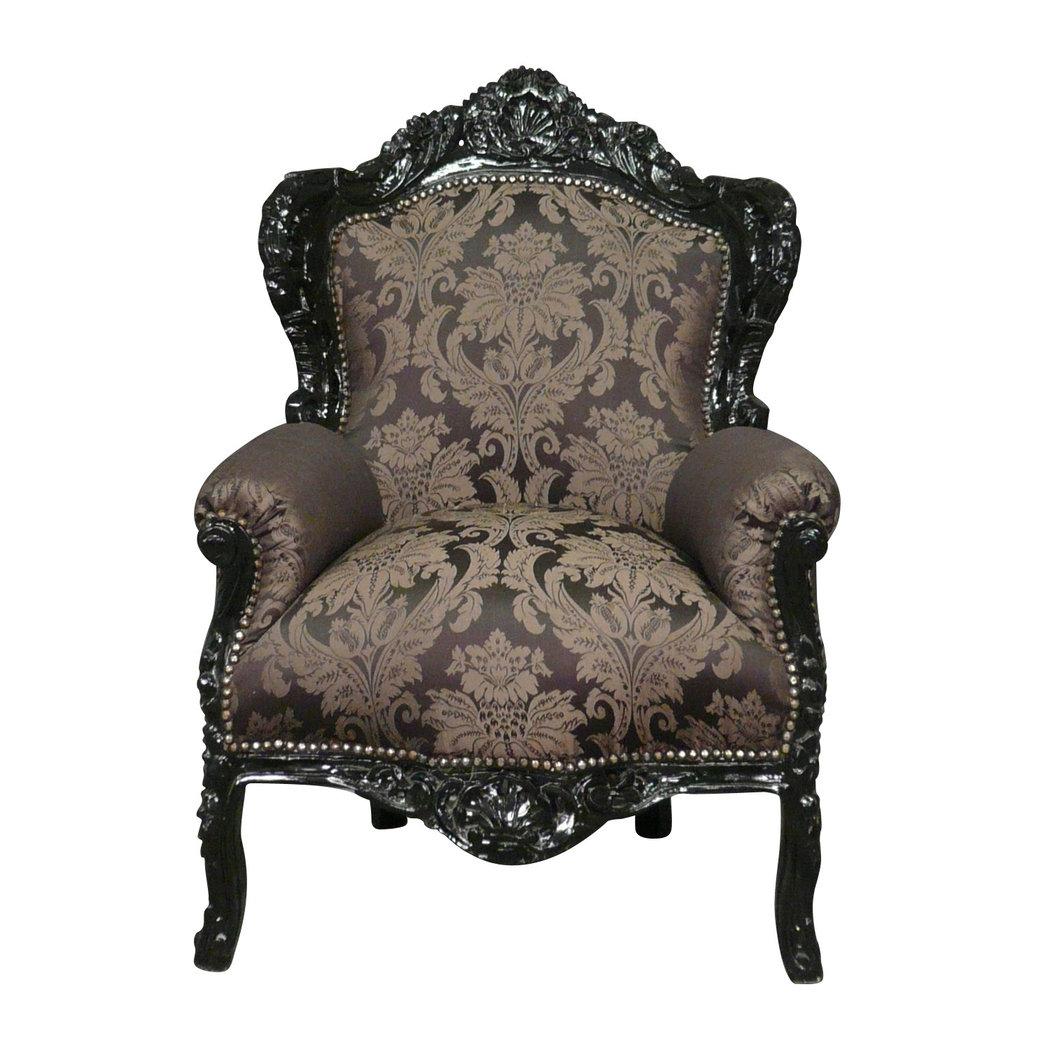 fauteuil baroque noir rococo meuble baroque. Black Bedroom Furniture Sets. Home Design Ideas