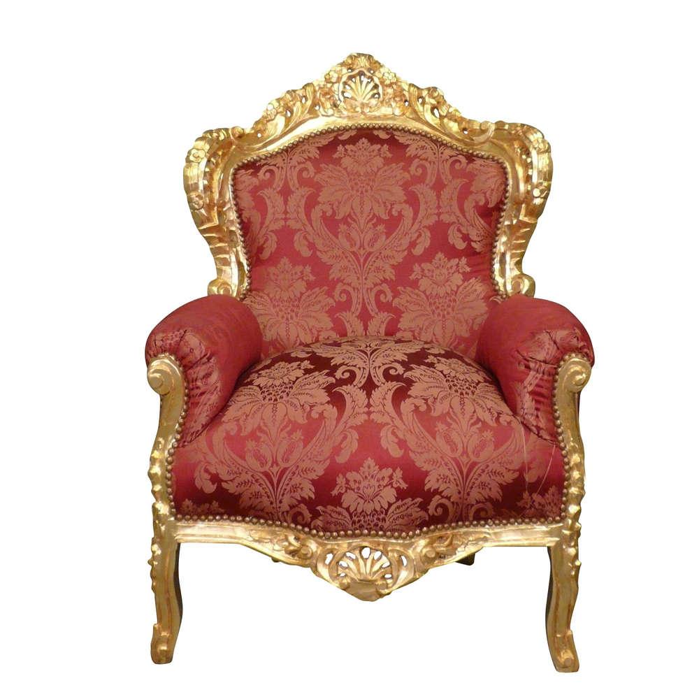 Poltrona barocca rosso - divano e mobili in stile barocco