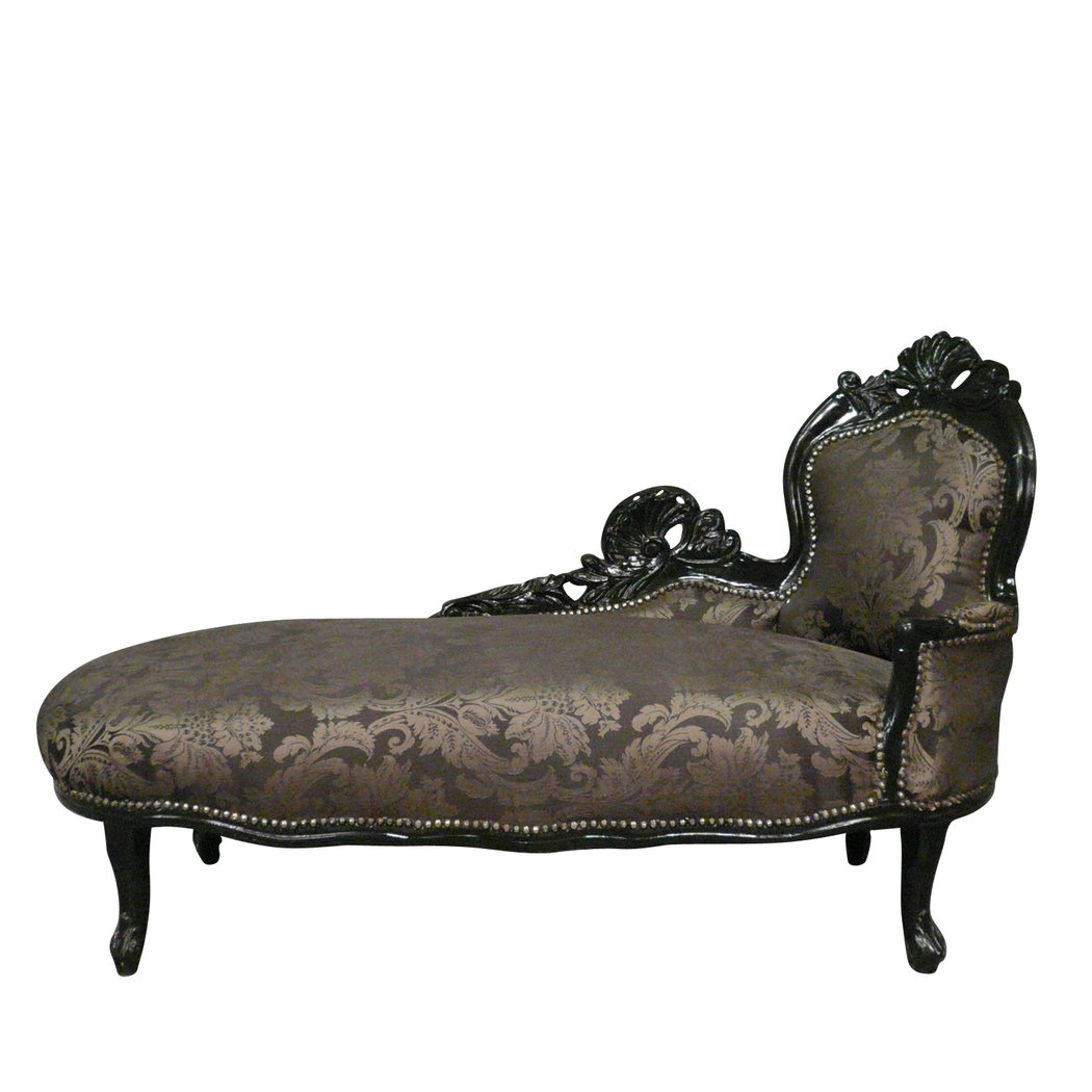 Chaise longue baroque black baroque furniture for Chaise baroque avec accoudoir