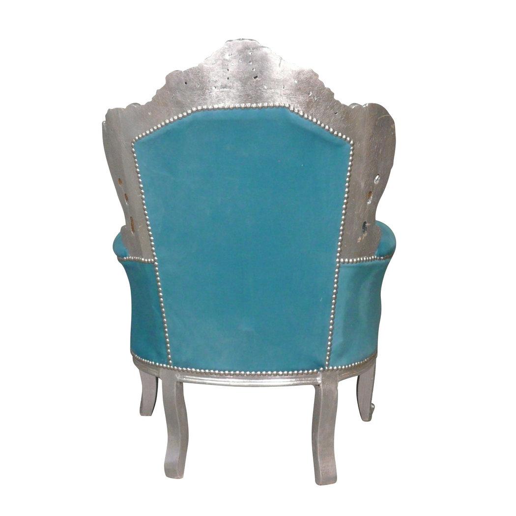 fauteuil baroque bleu turquoise meuble baroque. Black Bedroom Furniture Sets. Home Design Ideas