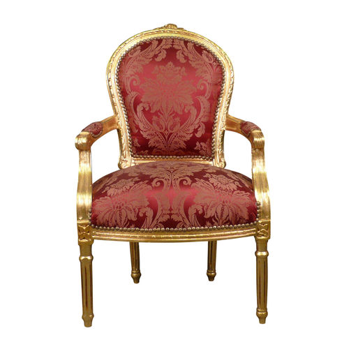Louis XVI armchair red rococo