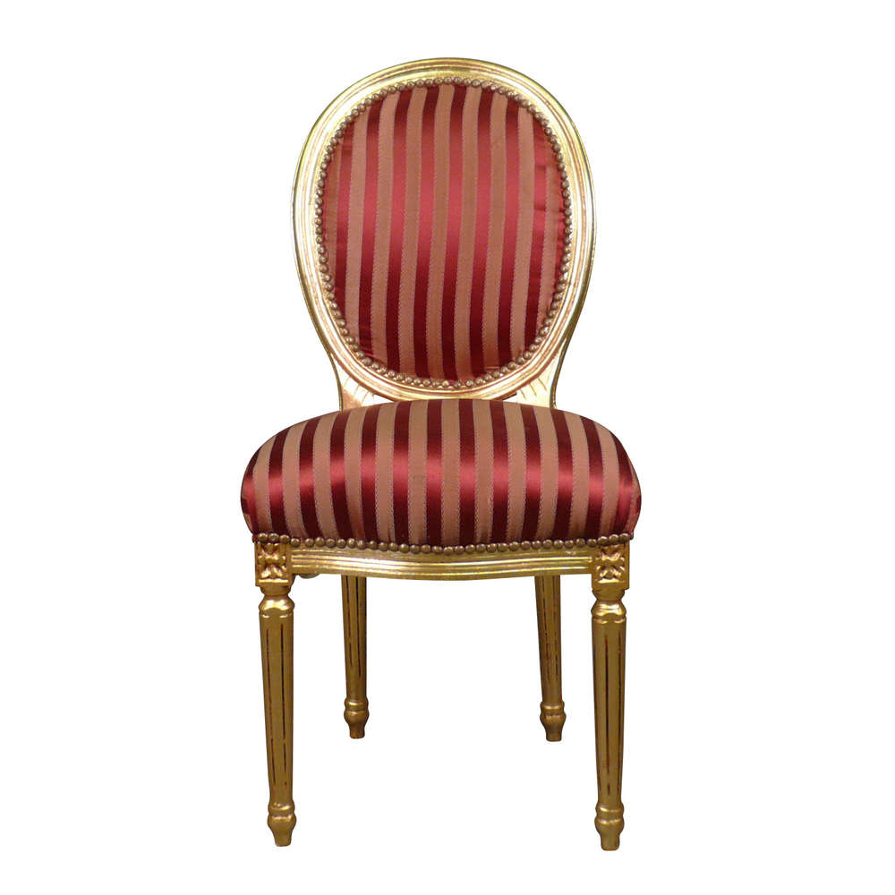 Sedia Luigi XVI rococo rosso - Sedia barocco