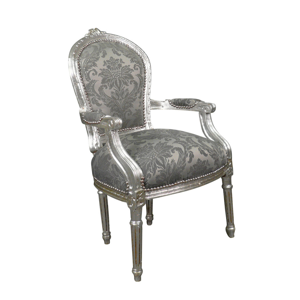 armchair louis xvi rococo gray louis xv furniture. Black Bedroom Furniture Sets. Home Design Ideas