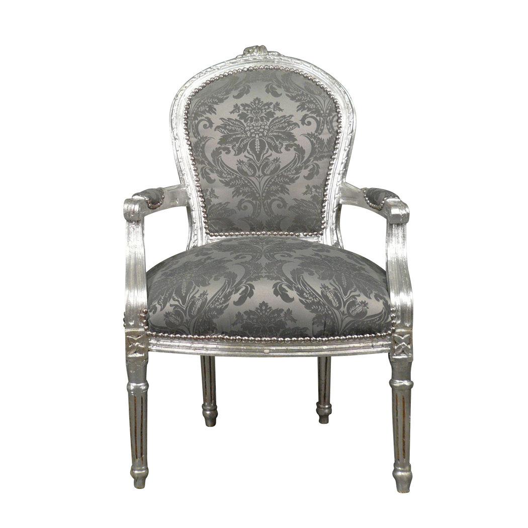 Sill n luis xvi rococ gris muebles luis xv Muebles de sala luis xvi
