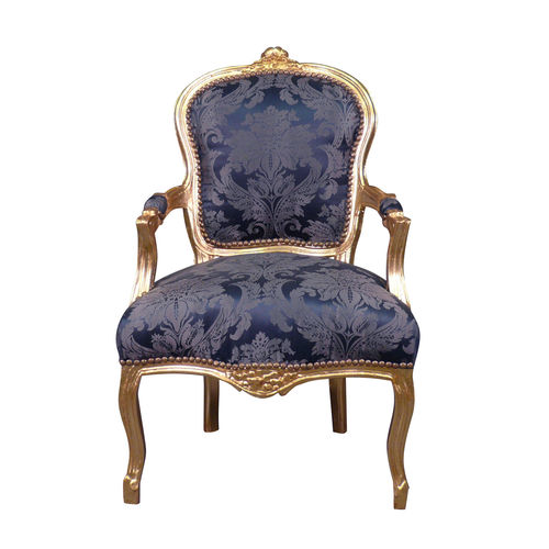 Louis XV Sessel blau