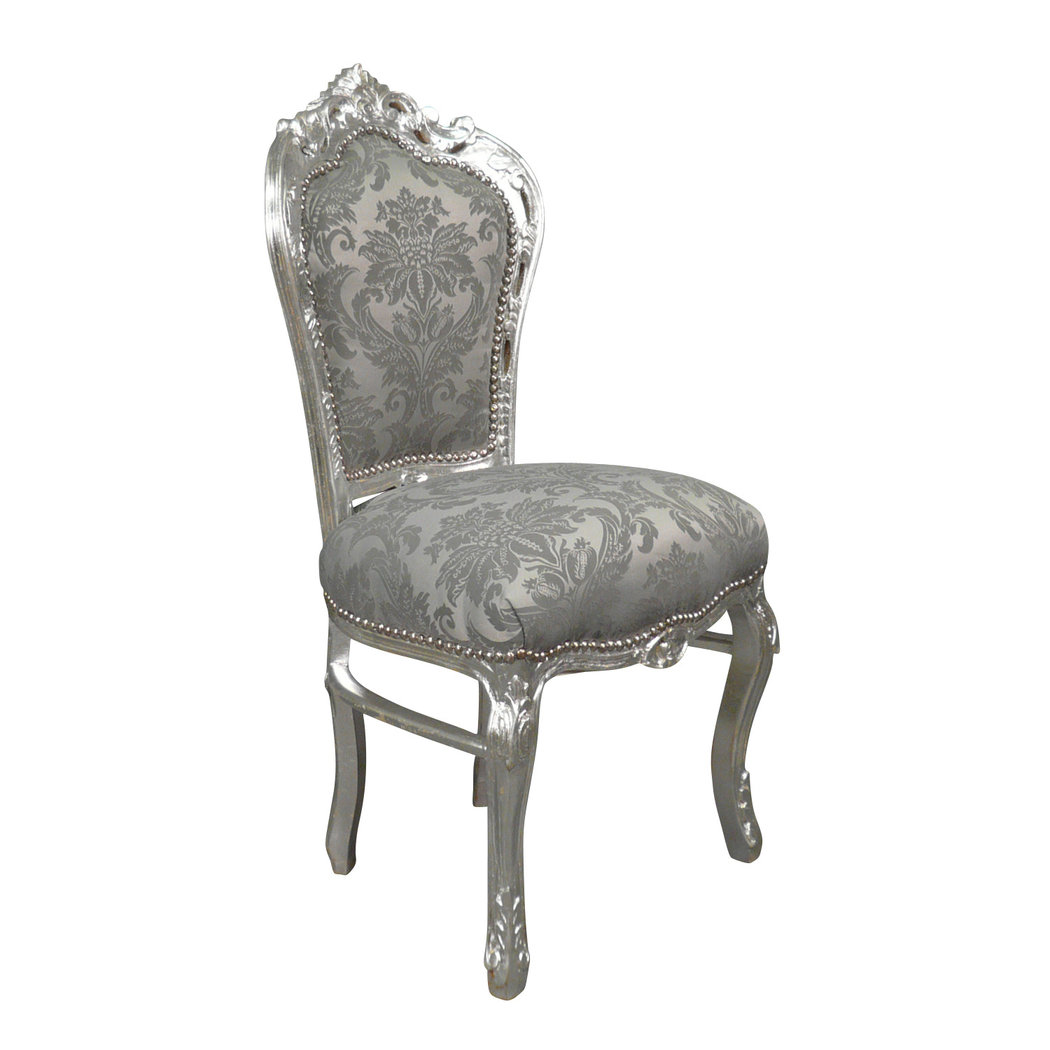 chaise baroque argent rococo meuble baroque. Black Bedroom Furniture Sets. Home Design Ideas