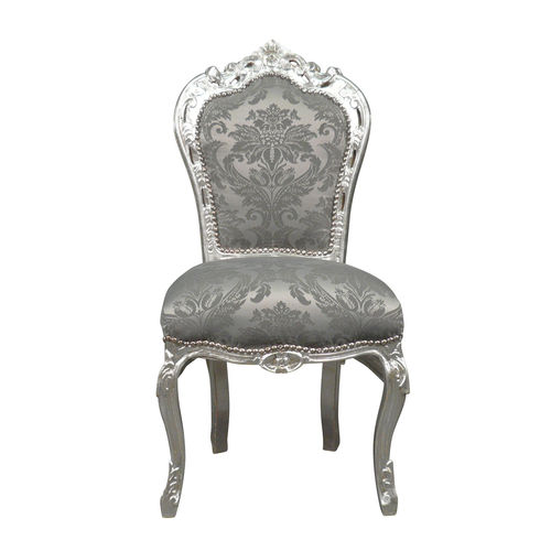 Chaise baroque argent rococo