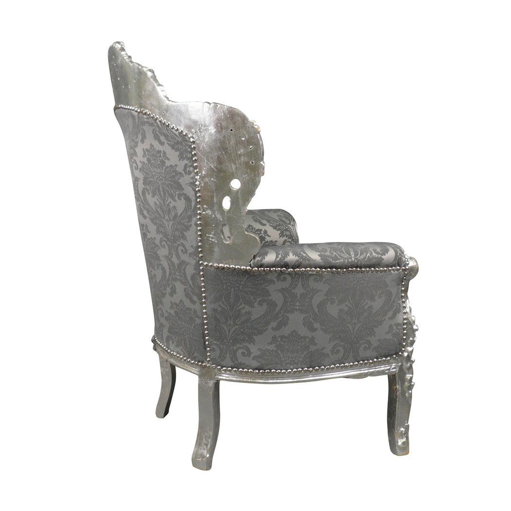 fauteuil baroque argent royal rococo meuble et canap baroque. Black Bedroom Furniture Sets. Home Design Ideas