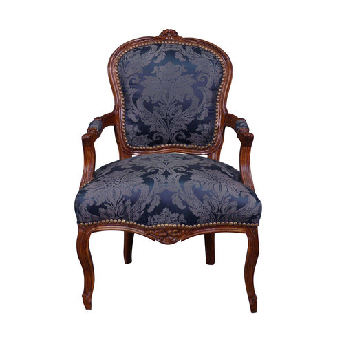 Louis XV armchair blue wood