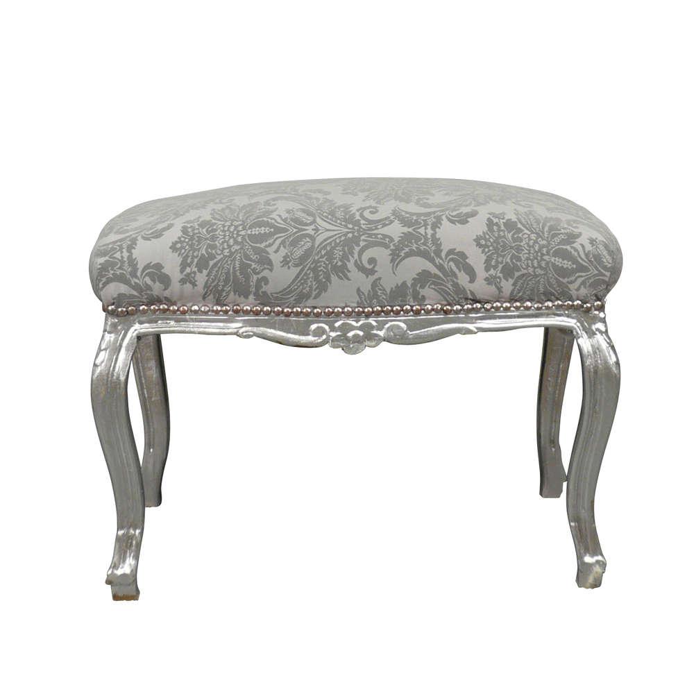 Silver Baroque Bench Rococo