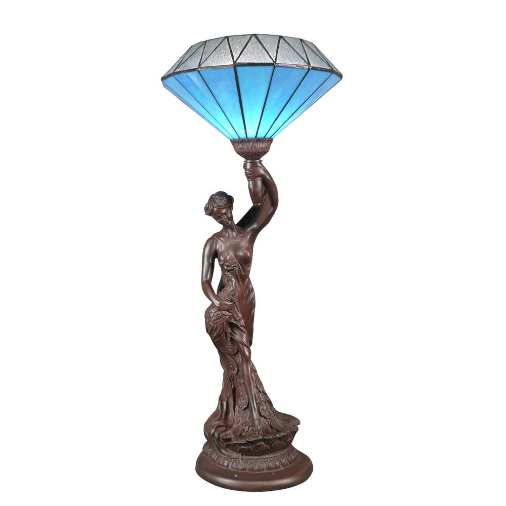 Deco Salon Bleu Roi tiffany lamp blue diamond - lamps art deco