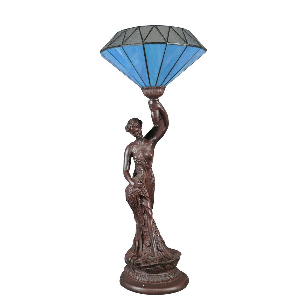 Lampe Tiffany le diamant bleu Lampes art déco
