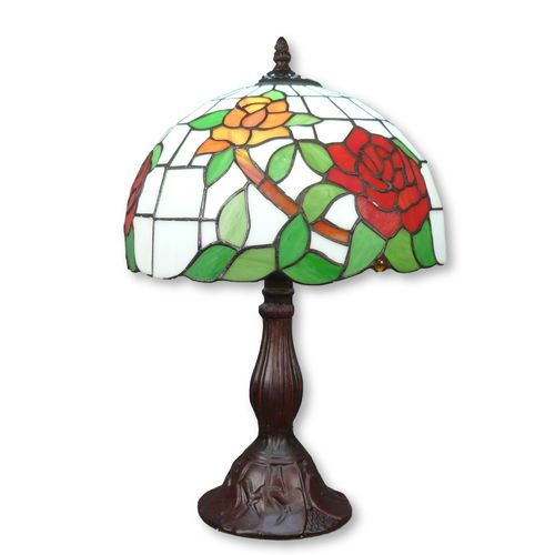 Tiffany lamp with roses