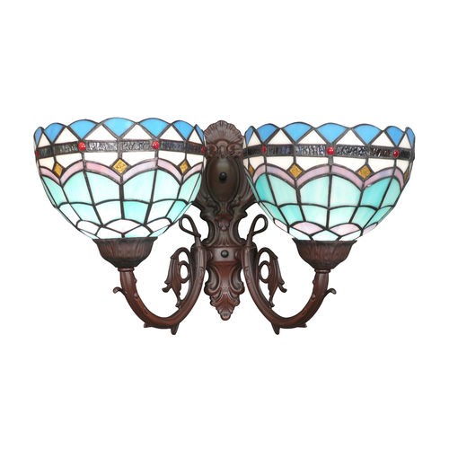 Tiffany wall sconce Monaco two fires
