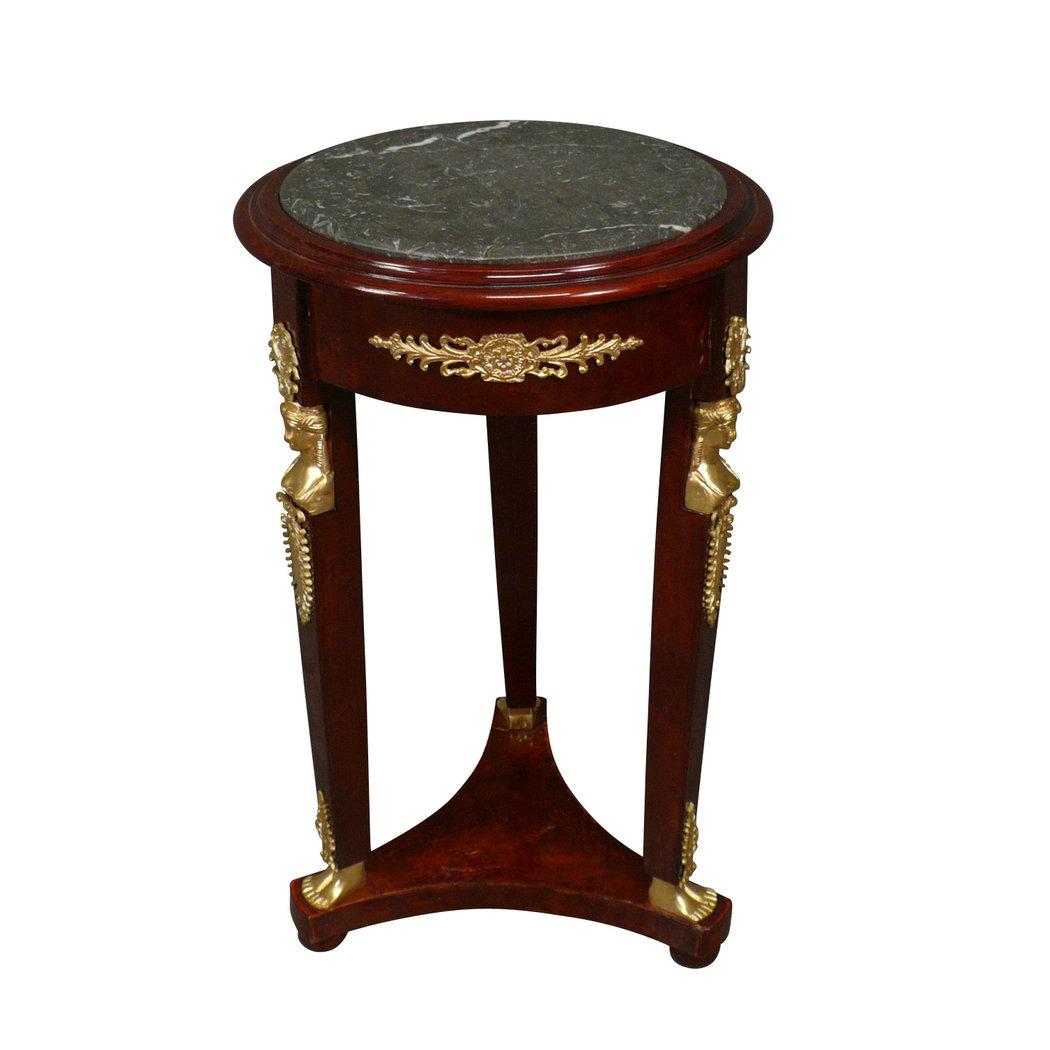 Empire tisch mahagoni aus schwarzem marmor stilm bel for Tisch aus marmor
