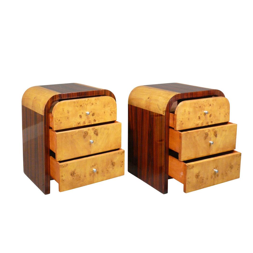 Chevets art d co meuble art d co pour la chambre - Table de nuit art deco ...