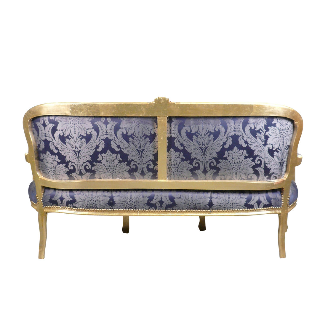 Louis xv sofa blue rococo louis 15 furniture for Canape style louis xv