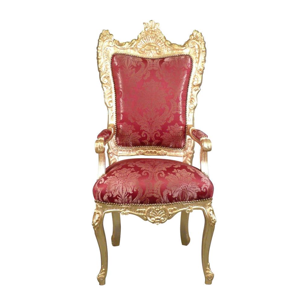 Barocco Poltrona Mobili E Trono Barocca Rosso Oro Ybvf76gy