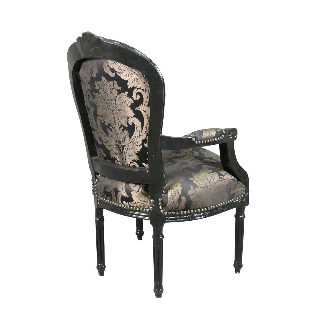 fauteuil louis xvi noir rococo meubles et fauteuils louis 16. Black Bedroom Furniture Sets. Home Design Ideas