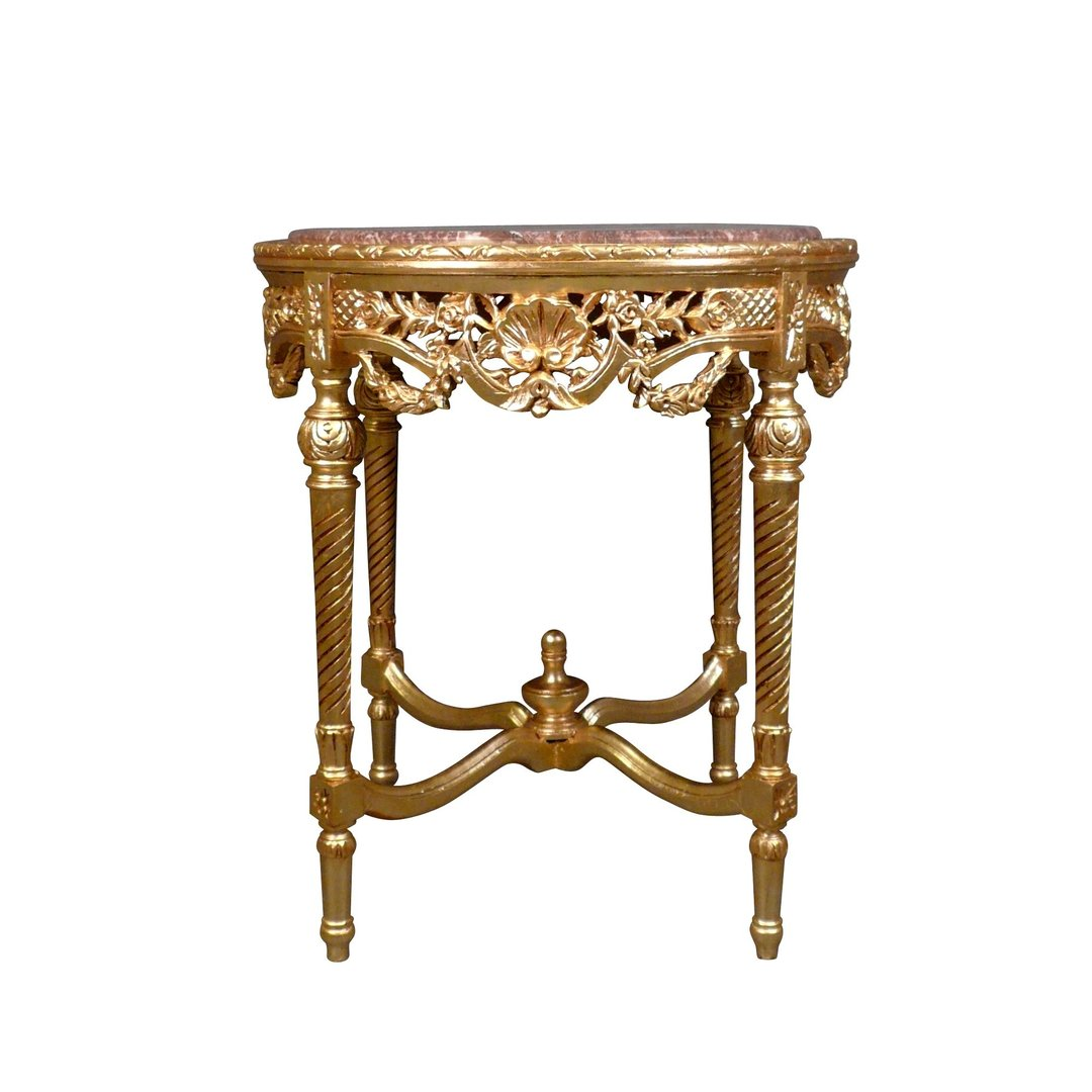 Baroque Round Table In Gilded Wood Baroque Furniture