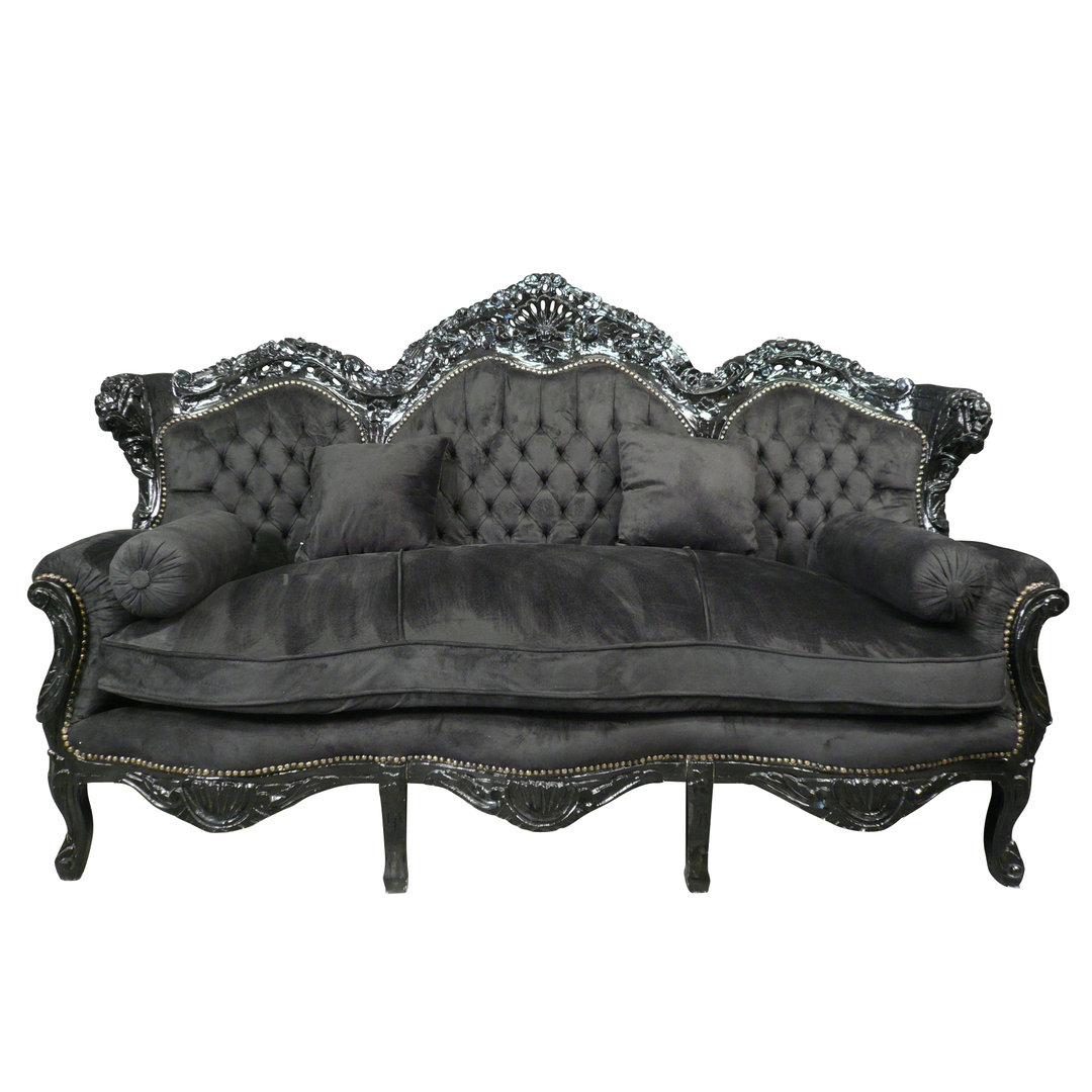 canap baroque en velours noir meubles baroques. Black Bedroom Furniture Sets. Home Design Ideas