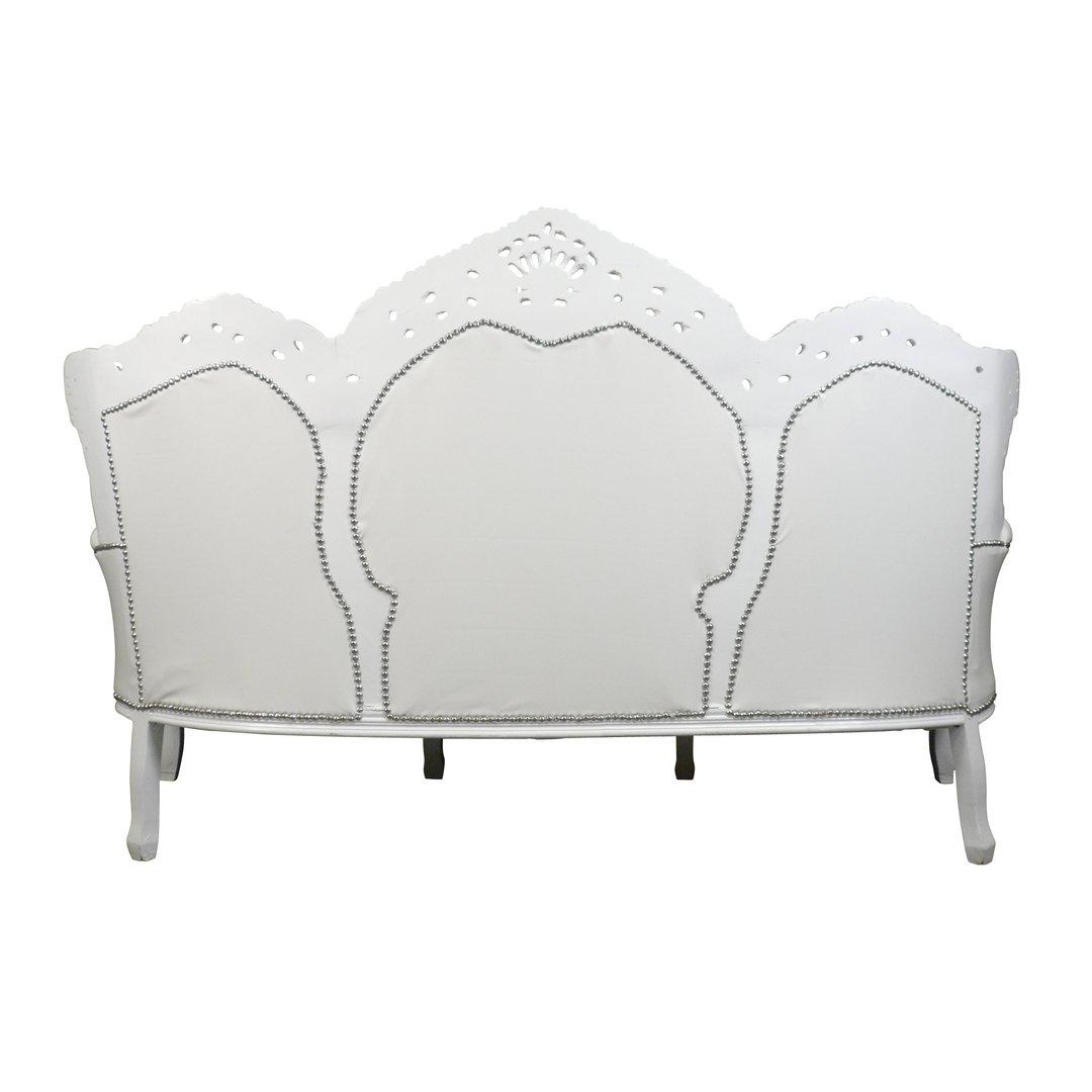 Divano barocco in pvc bianco mobili barocchi for Divano barocco