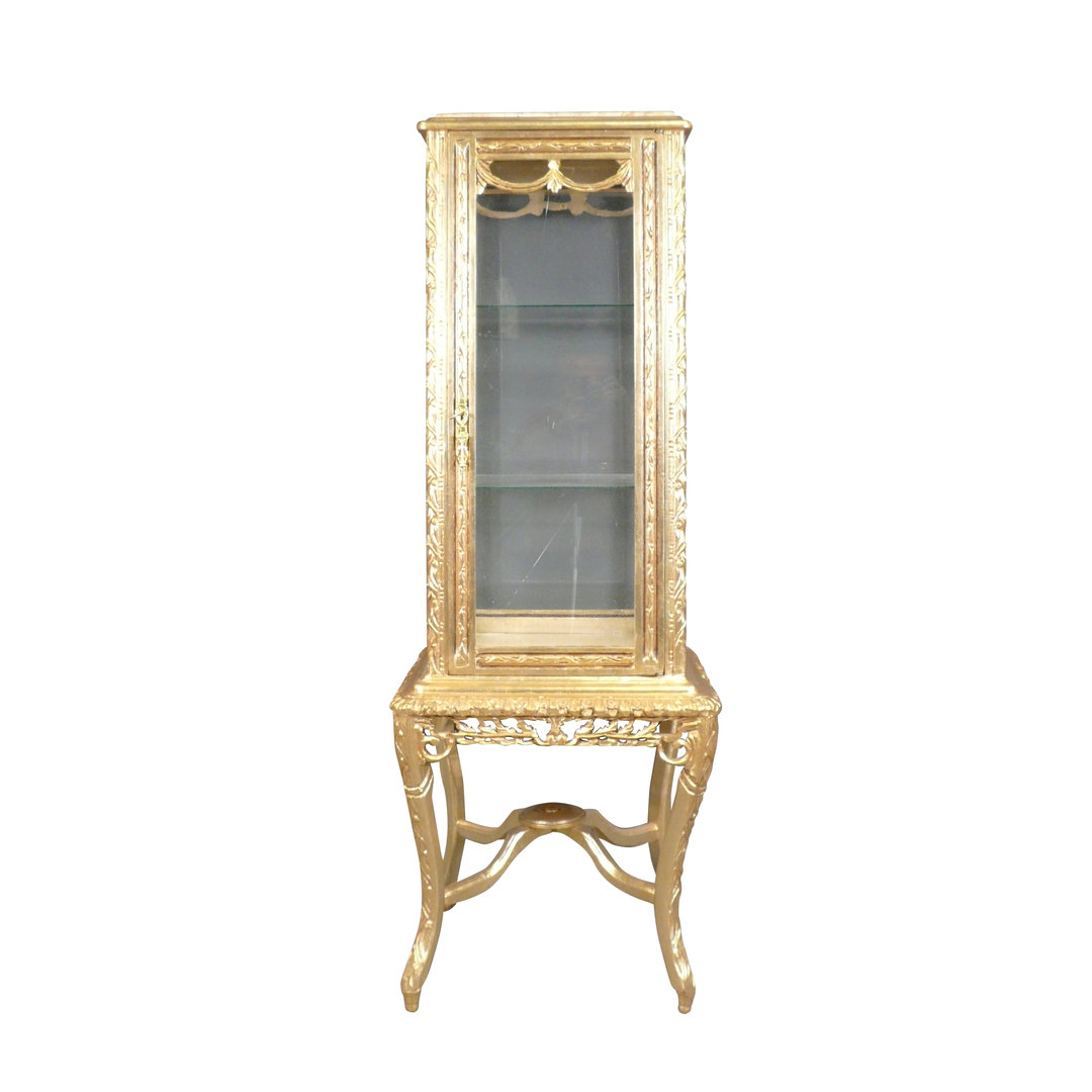 Showcase Baroque gilt wood