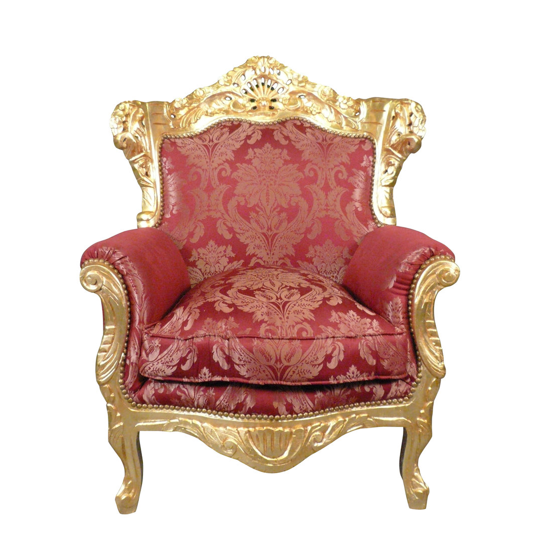 fauteuil baroque rouge et dor meubles baroque. Black Bedroom Furniture Sets. Home Design Ideas
