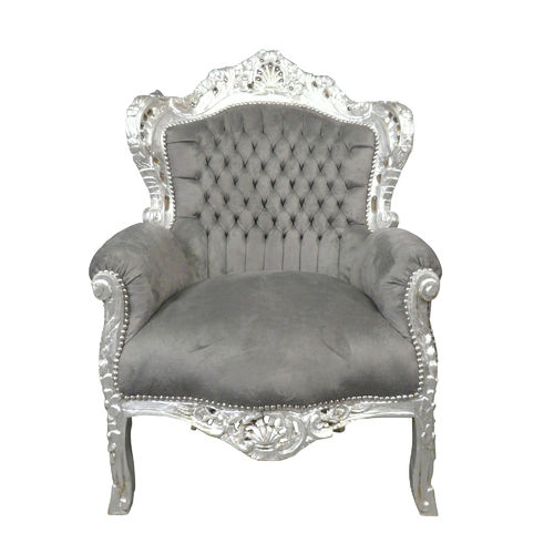 Baroque armchair gray