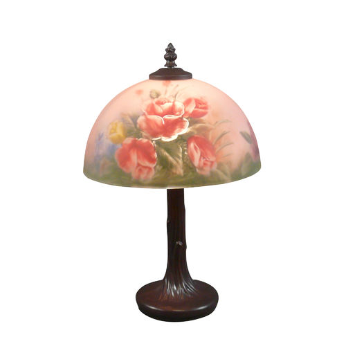 Tiffany style lamp with floral